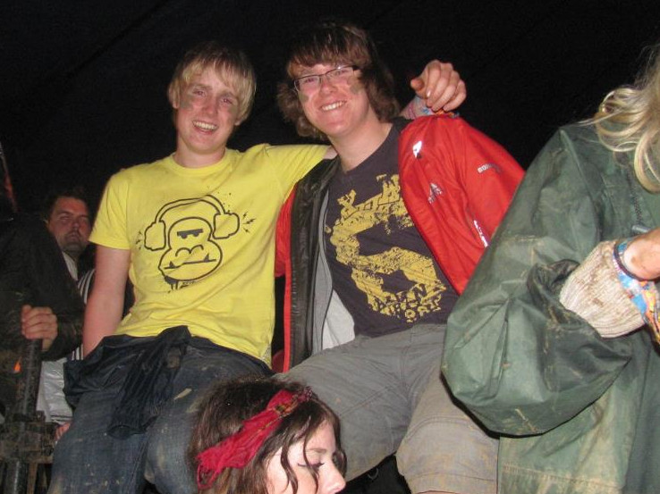 With my cousin Leo at Leeds Festival 2011. We were, I think, watching Pete Doherty at the time.